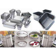 GN съдове, корита за мивки, посуда, контейнери за пренос на храна