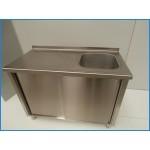 Неръждаеми работни шкафове с мивки INOXit