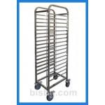 Стандартни неръждаеми колички за тави или посуда INOXit